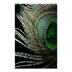 Feather Peacock Drops Green Shower Curtain 48  X 72  (small)