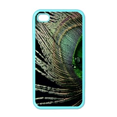 Feather Peacock Drops Green Apple iPhone 4 Case (Color)