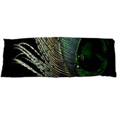 Feather Peacock Drops Green Body Pillow Case (Dakimakura)