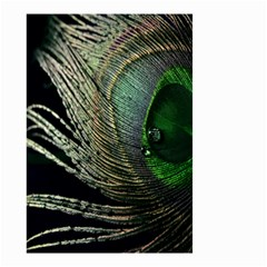 Feather Peacock Drops Green Small Garden Flag (Two Sides)