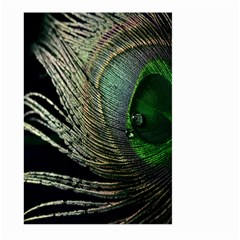 Feather Peacock Drops Green Large Garden Flag (Two Sides)