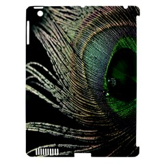 Feather Peacock Drops Green Apple iPad 3/4 Hardshell Case (Compatible with Smart Cover)