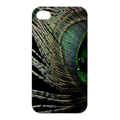 Feather Peacock Drops Green Apple iPhone 4/4S Premium Hardshell Case
