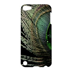 Feather Peacock Drops Green Apple iPod Touch 5 Hardshell Case