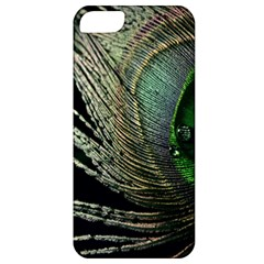Feather Peacock Drops Green Apple iPhone 5 Classic Hardshell Case