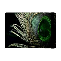 Feather Peacock Drops Green Apple iPad Mini Flip Case