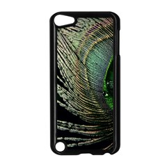 Feather Peacock Drops Green Apple iPod Touch 5 Case (Black)