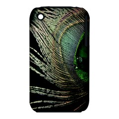Feather Peacock Drops Green iPhone 3S/3GS