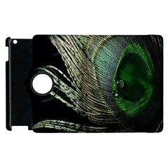Feather Peacock Drops Green Apple iPad 2 Flip 360 Case