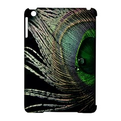 Feather Peacock Drops Green Apple iPad Mini Hardshell Case (Compatible with Smart Cover)