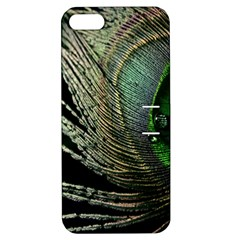 Feather Peacock Drops Green Apple iPhone 5 Hardshell Case with Stand