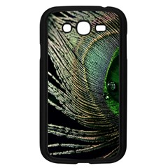 Feather Peacock Drops Green Samsung Galaxy Grand DUOS I9082 Case (Black)
