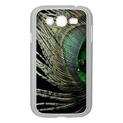 Feather Peacock Drops Green Samsung Galaxy Grand DUOS I9082 Case (White)