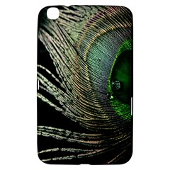 Feather Peacock Drops Green Samsung Galaxy Tab 3 (8 ) T3100 Hardshell Case