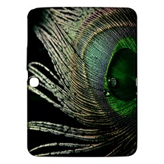 Feather Peacock Drops Green Samsung Galaxy Tab 3 (10 1 ) P5200 Hardshell Case