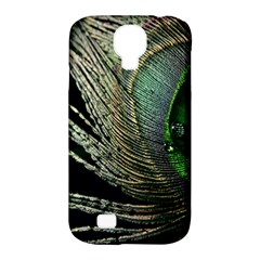 Feather Peacock Drops Green Samsung Galaxy S4 Classic Hardshell Case (PC+Silicone)