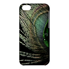 Feather Peacock Drops Green Apple iPhone 5C Hardshell Case