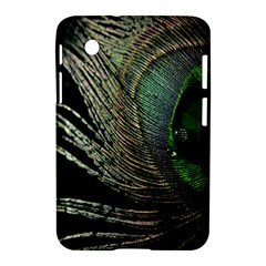 Feather Peacock Drops Green Samsung Galaxy Tab 2 (7 ) P3100 Hardshell Case