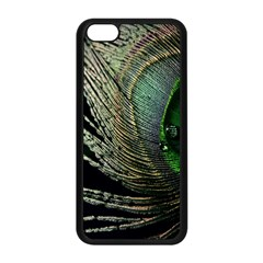 Feather Peacock Drops Green Apple Iphone 5c Seamless Case (black)