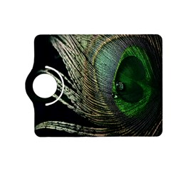 Feather Peacock Drops Green Kindle Fire HD (2013) Flip 360 Case