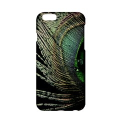 Feather Peacock Drops Green Apple iPhone 6/6S Hardshell Case