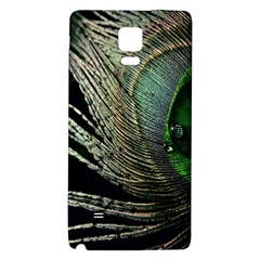 Feather Peacock Drops Green Galaxy Note 4 Back Case