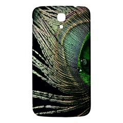 Feather Peacock Drops Green Samsung Galaxy Mega I9200 Hardshell Back Case