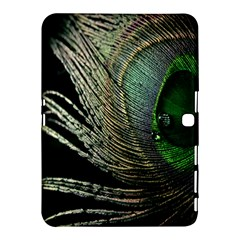 Feather Peacock Drops Green Samsung Galaxy Tab 4 (10.1 ) Hardshell Case