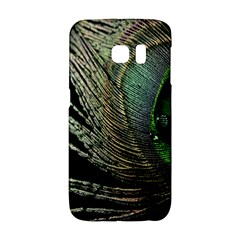 Feather Peacock Drops Green Galaxy S6 Edge