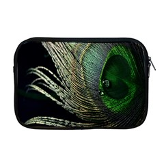 Feather Peacock Drops Green Apple Macbook Pro 17  Zipper Case