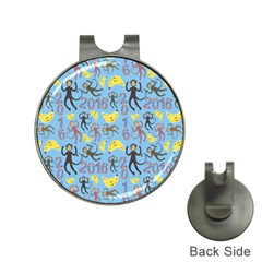 Cute Monkeys Seamless Pattern Hat Clips with Golf Markers