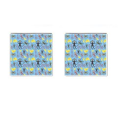Cute Monkeys Seamless Pattern Cufflinks (Square)