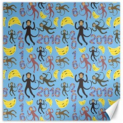 Cute Monkeys Seamless Pattern Canvas 12  x 12