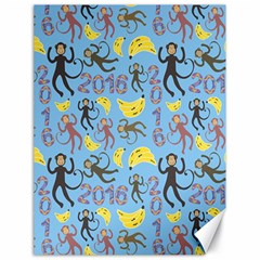 Cute Monkeys Seamless Pattern Canvas 18  X 24