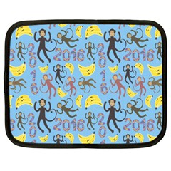 Cute Monkeys Seamless Pattern Netbook Case (XXL)