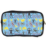 Cute Monkeys Seamless Pattern Toiletries Bags 2-Side Front