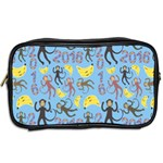 Cute Monkeys Seamless Pattern Toiletries Bags 2-Side Back