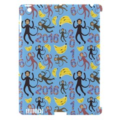 Cute Monkeys Seamless Pattern Apple iPad 3/4 Hardshell Case (Compatible with Smart Cover)
