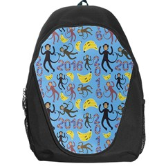 Cute Monkeys Seamless Pattern Backpack Bag