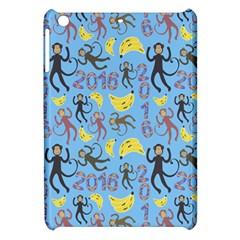 Cute Monkeys Seamless Pattern Apple iPad Mini Hardshell Case
