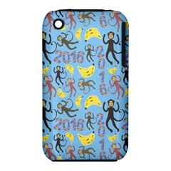 Cute Monkeys Seamless Pattern Iphone 3s/3gs