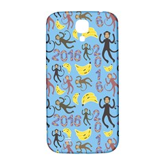 Cute Monkeys Seamless Pattern Samsung Galaxy S4 I9500/I9505  Hardshell Back Case