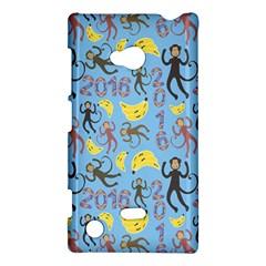 Cute Monkeys Seamless Pattern Nokia Lumia 720