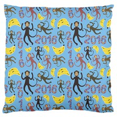 Cute Monkeys Seamless Pattern Standard Flano Cushion Case (One Side)