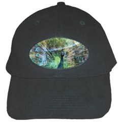 Digitally Painted Abstract Style Watercolour Painting Of A Peacock Black Cap
