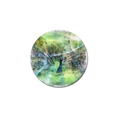 Digitally Painted Abstract Style Watercolour Painting Of A Peacock Golf Ball Marker
