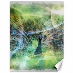 Digitally Painted Abstract Style Watercolour Painting Of A Peacock Canvas 36  X 48