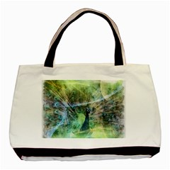 Digitally Painted Abstract Style Watercolour Painting Of A Peacock Basic Tote Bag (two Sides)