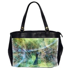 Digitally Painted Abstract Style Watercolour Painting Of A Peacock Office Handbags (2 Sides)