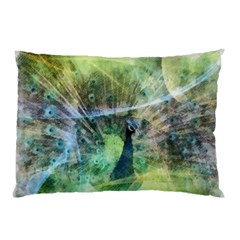 Digitally Painted Abstract Style Watercolour Painting Of A Peacock Pillow Case (Two Sides)